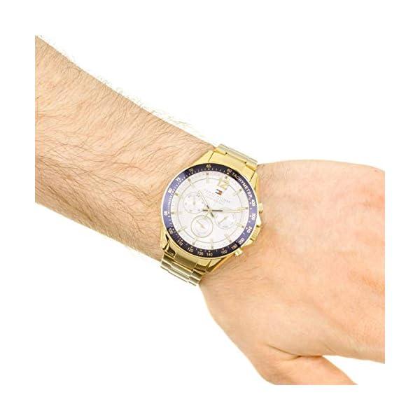 Orologio da uomo al quarzo Tommy Hilfiger 1791121, con visualizzazione multi-quadrante e cinturino in acciaio inox. 5