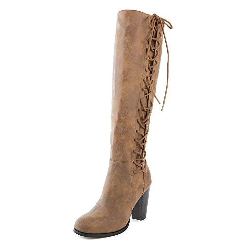 Bamboe Womens Cheek-08s Knielaarzen Hoge Veterboot