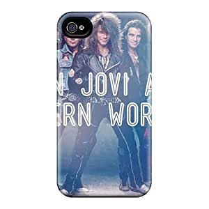 DannyLCHEUNG Iphone 4/4s Bumper Mobile Cases Provide Private Custom Lifelike Bon Jovi Image [TLr9861hluL]