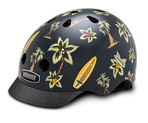 Street Shirt Hawaiian (Nutcase - Patterned Street Bike Helmet for Adults, Hawaiian Shirt, Medium)