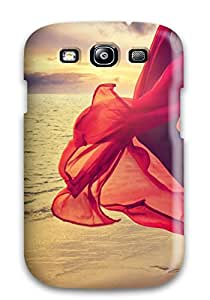 Pretty HBPChHX692YOgPL Galaxy S3 Case Cover/ Barefoot Walking On The Beach Series High Quality Case