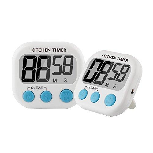 Digital Kitchen Timer (2 pack), Feewer Large LCD Display,...