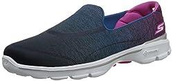 Skechers Performance Women's Go Walk 3 Aura Slip-On Walking Shoe, Purple/Green, 5.5 M US