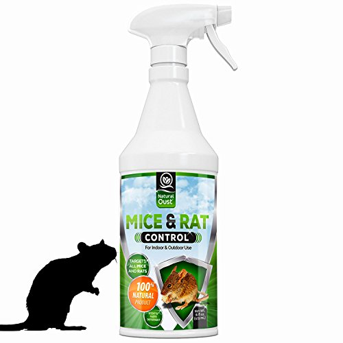 Peppermint Mice Repellent Spray - All Natural Essential Oil Mouse Formula - Deters All Types of Mice, Rats and Small (Type Natural)