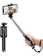 Mpow Selfie Stick, iSnap X U-Form Selfie Stange Erweiterbar Selfie-Stick mit integrierter Bluetooth Fernauslöser,Selfie Stick mit Handgelenkband für IphoneX,Galaxy,Redmi 4, MP3 Players usw.