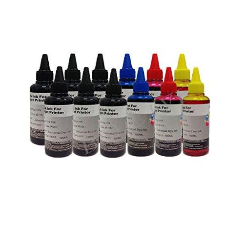 2 opinioni per KIT Ricarica Cartucce 12 Flaconi 100ml inchiostro colori universale per Brother