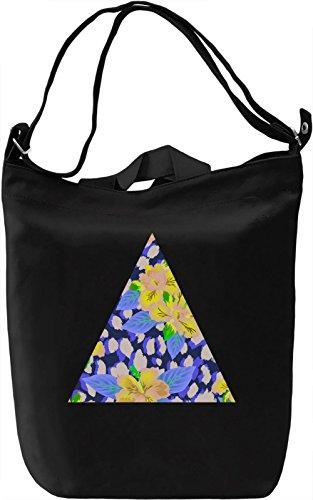 Colourful Triangle Borsa Giornaliera Canvas Canvas Day Bag| 100% Premium Cotton Canvas| DTG Printing|