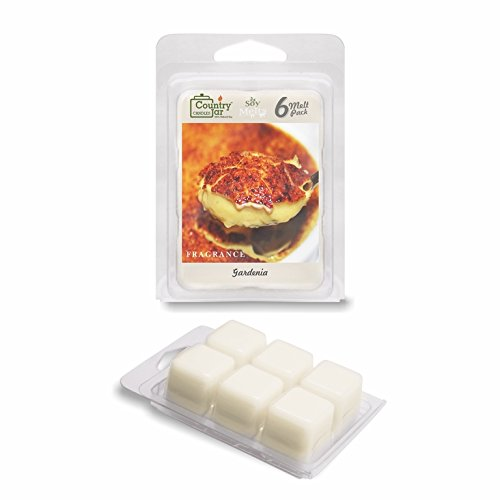 Country Jar CREME BRULEE Wax Melts (2.75 oz./6-Cube Pack) (Soy Creme Brule Candle)