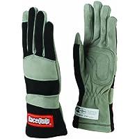 RaceQuip 351005 351 Series Large Black SFI 3.3/1 One Layer Racing Gloves by RaceQuip