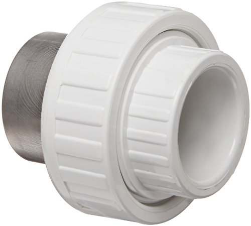 Spears 459-SR Series PVC Pipe Fitting, Union with Buna O-Ring, Schedule 40, 1-1/4
