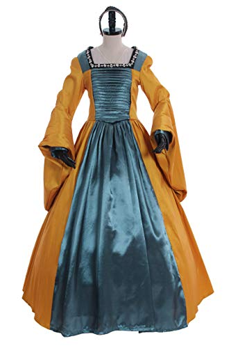 1791's lady Gorgeouse Women's Medieval Renaissance Dress Anne's Yellow Gown (XXL:Height67-69 Chest46-48 Waist39-41) -