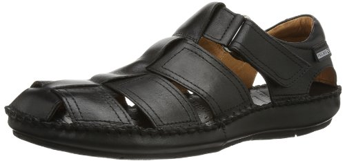 Pikolinos Men's Tarifa Fisherman Sandal,Black,42 EU/8.5-9 M US by Pikolinos
