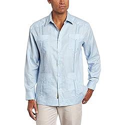 Cubavera - Camisa de botones,C9HW0035, Hombres, azul, casimir (CASHMERE BLUE), Medium