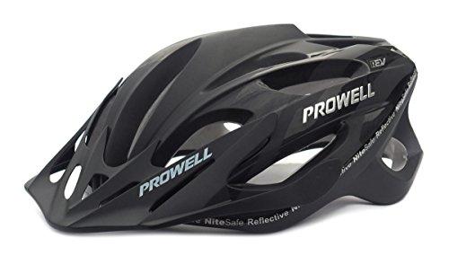 Prowell F59 Cycle Helmet,Edge Black Medium - (55cm-61cm)