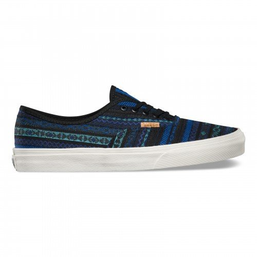 Vans Men's Authentic CA (Italian Weave) Blue/Black Skateboarding Shoes VN-0ZUIGD4 (Women US 7 / Mens US 5.5)