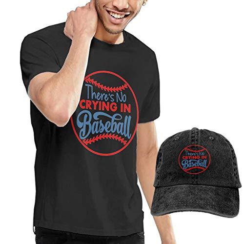 There's No Crying in Baseball Men's Short Sleeve T-Shirts & Baseball Caps Hats