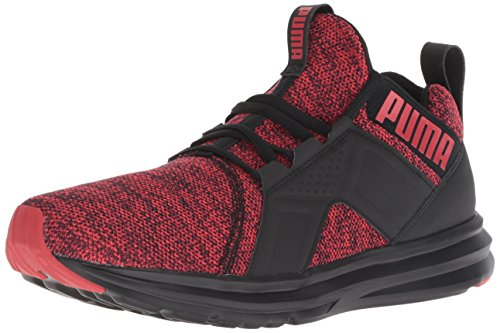PUMA Men's Enzo Knit NM Sneaker, Black-Ribbon red, 9.5 M US