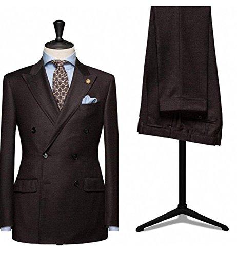 - Lilis Men's Formal Blazer Slim Fit Suit Double Breasted 2 Pieces