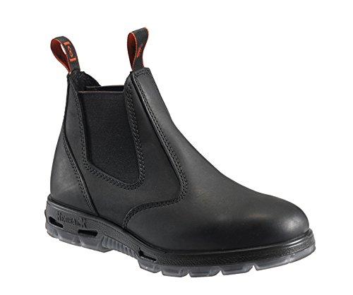 RedbacK Men's Work Boots UBBK Black Easy Escape Chelsea Bobcat Slip On Non Steel Toe Size UK10.5=US11.5