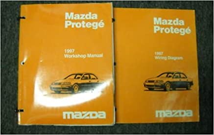 1997 mazda protege service shop repair manual set oem (service manual, and  the wiring diagram manual ): mazda: amazon com: books