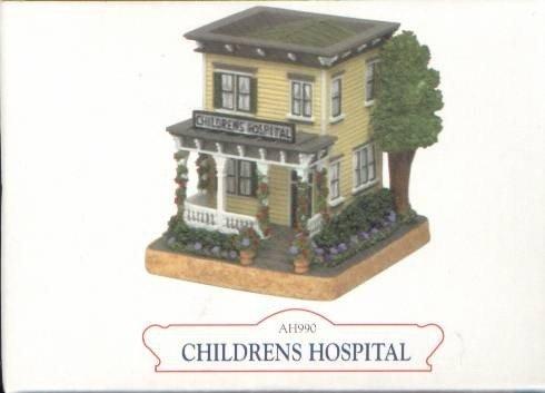 Miniature Hospital LIBERTY FALLS CHILDRENS HOSPITAL AH990 THE AMERICANA COLLECTION