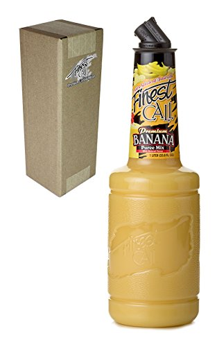Finest Call Premium Banana Puree Drink Mix, 1 Liter Bottle (33.8 Fl Oz), Individually Boxed
