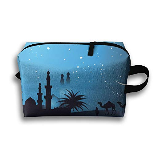 Arabian Night Picture Cosmetic Bags Makeup Organizer Bag Pouch Zipper Purse Handbag Clutch Bag -