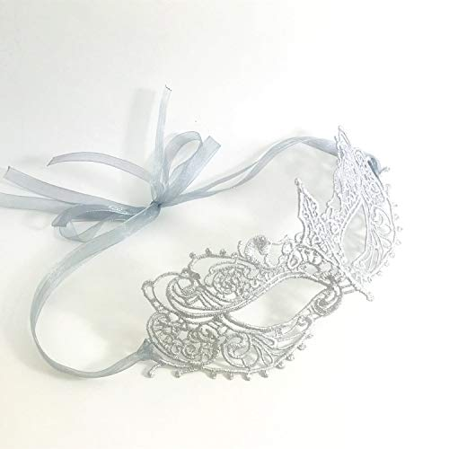 The Authentic Silver Grey Ana Lace Goddess Ana Masquerade Mask -