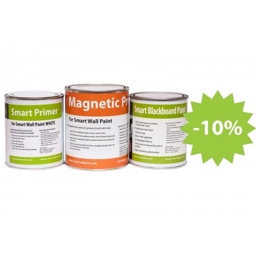 Magnetic Blackboard Paint 43 ft² by Smarter Surfaces