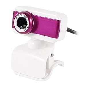 Clip 1004x1004 1.3 mega píxeles de la cámara MIC USB 2.0 Webcam fucsia para PC