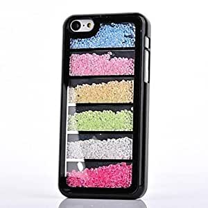 YULIN iPhone 5C compatible Diamond Look Jewel Covered Cases , White