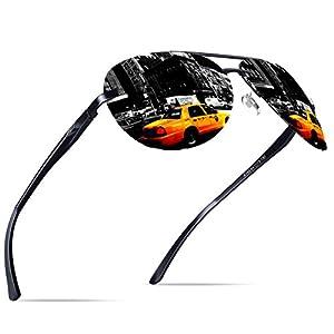 KITHDIA Sunglasses for Men Women Aviator Polarized Al-Mg UV Protection Sunglasses