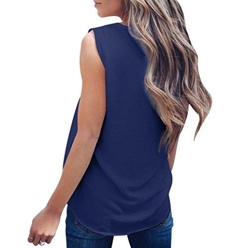 Maniche Bluestercool Navy Estive Donna T Senza Camicetta Shirt Blusa Sexy Maglietta pRIqp