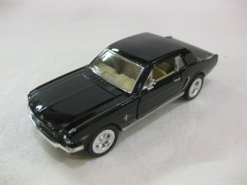 1964 1/2 Ford Mustang In Black Diecast 1:36 Scale By