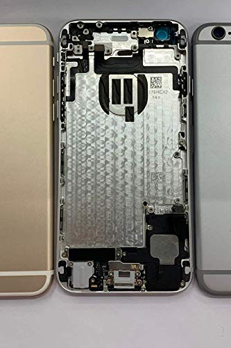 Full Assembly Completed housing Cover Rear Battery Door + Parts for iPhone 6 A1549 (Silver) ()