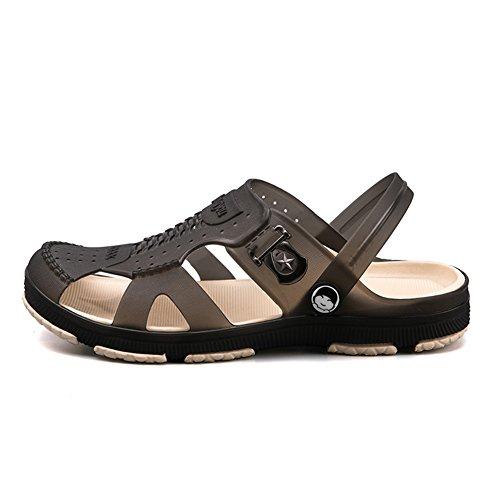 Men's Beach Slipper Lightweight Garden Clogs Anti-Slip Casual Sandals Mules for Indoor Outdoor,Various Sizes Black