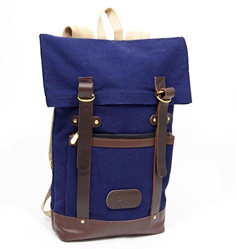 Boldric DD Strap Backpack - Designer Canvas Leather Back Pack Bag For Men & Women - Lightweight Travel Laptop Tote Pack ()