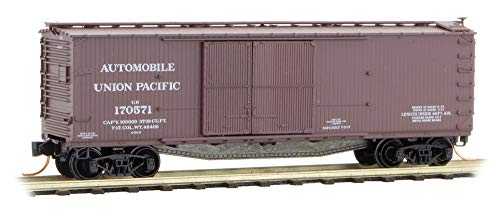 Micro-Trains MTL N-Scale 40ft Wood Box Car Union Pacific/UP Automobile #170571