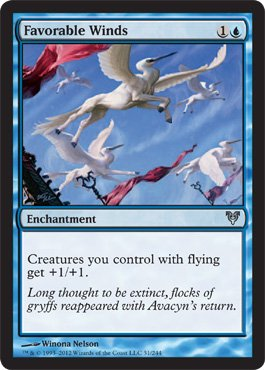 Magic: the Gathering - Favorable Winds (51) - Avacyn Restored (Magic The Gathering Blue White Flying Deck)