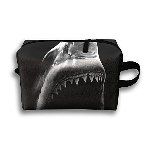 CUW BBCUW Handy Travel Toiletry Bag Black Shark Makeup Bag Cosmetic Organizer Bag Large Accessories Organizer For Men Women