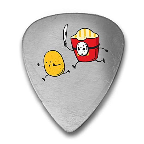 French Fried Jason Funny Horror Film Parody - 3D Color Printed Guitar and Bass Pick Gift Silver