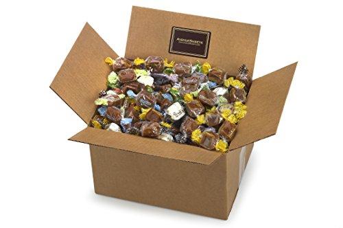 Glutenfree Mixed Bulk Caramel Candy, Individual Wrapped - Bulk Candy Holiday Snacks (Vanilla Caramels, 5lbs Box)