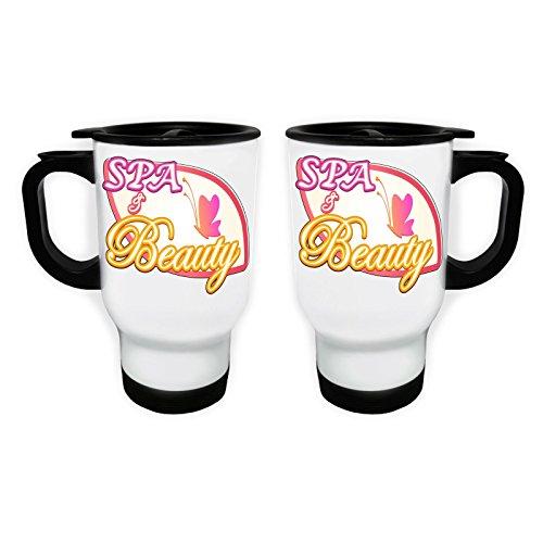 Beauty Beauty Spa White Thermo Travel Mug 14oz o689tw by INNOGLEN (Image #2)