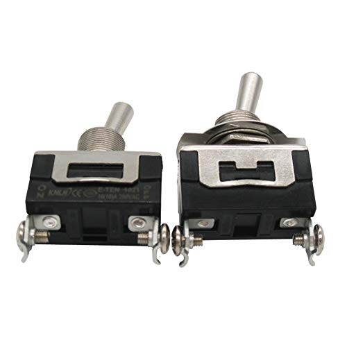 Twidec//Heavy Duty Rocker Toggle Switch 20A 125V SPST 2 Position 2 Pin ON//OFF Switch with Metal Bat Waterproof Cap Pack of 3 2 Years Warranty Ten-1021