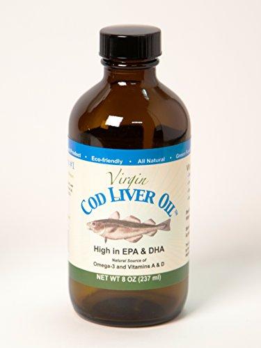 Virgin Cod Liver Oil, 8 Oz Jar (Mild Lemon & Peppermint Flavor) (Rosita Cod Liver Oil compare prices)