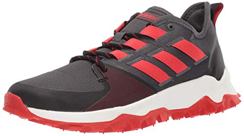adidas Men's Kanadia Trail, Grey/Active red/Black, 11 M US ()