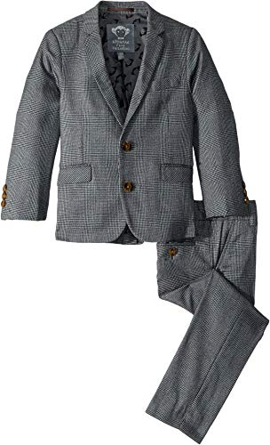 Appaman Kids Baby Boy's Two-Piece Mod Suit (Toddler/Little Kids/Big Kids) Grey Glen Plaid - 10 Baby Piece