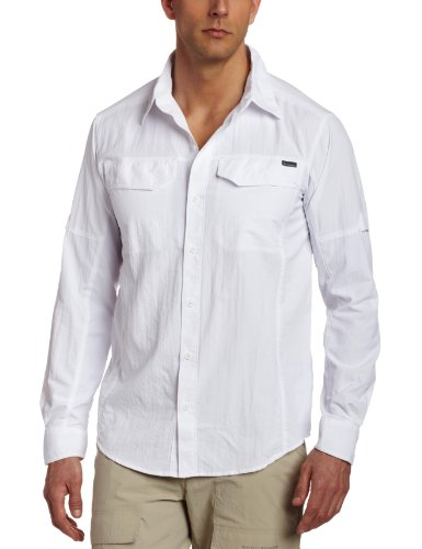 Columbia Silver Ridge Long Sleeve Shirt, Large, White