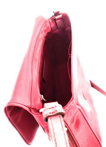Marc Jacobs messaggero in nylon fucsia messenger borsa a tracolla 28x23x23x7cm nuovo.