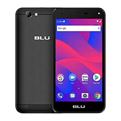 BLU Advance S5 HD - Unlocked Single Sim Smartphone, 16GB+1GB RAM -Black